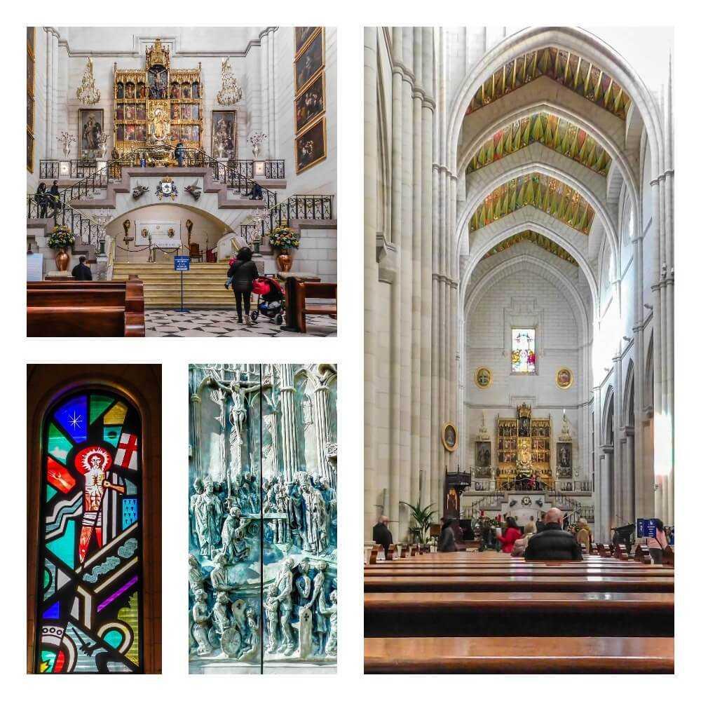 קתדרלת אלמודנה מדריד צבעונית ויפה