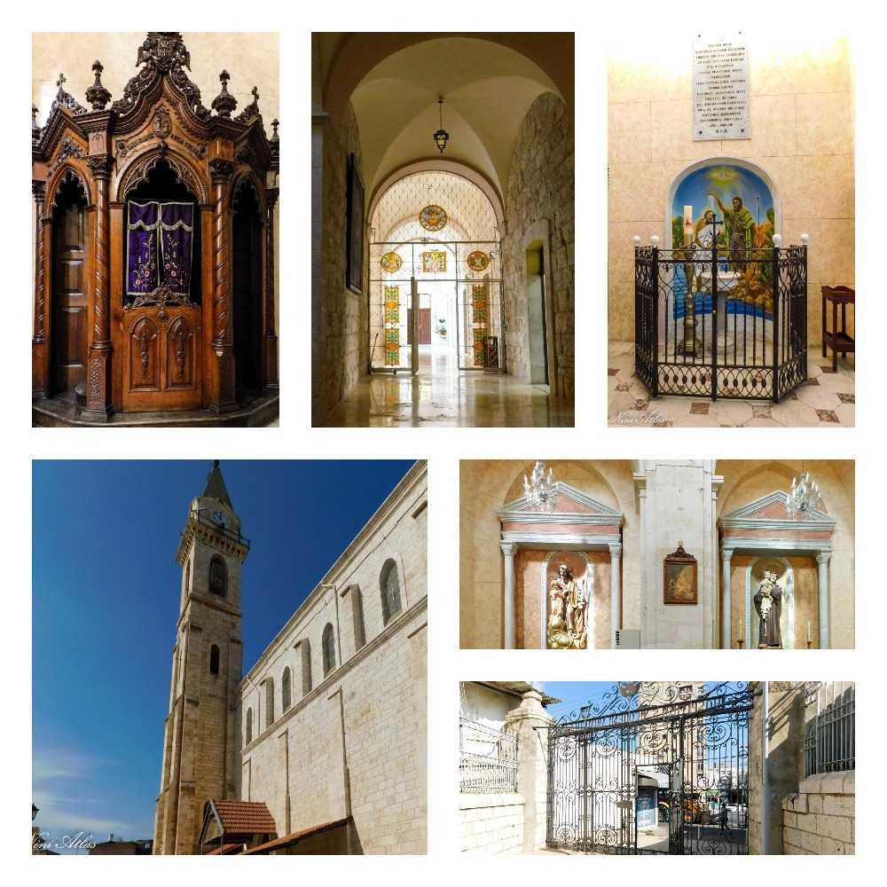 פנים הכנסייה הפרנצ'סקנית רמלה