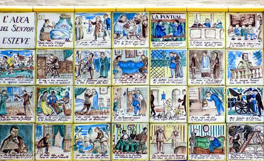 אריחים עם קומיקס בברצלונה