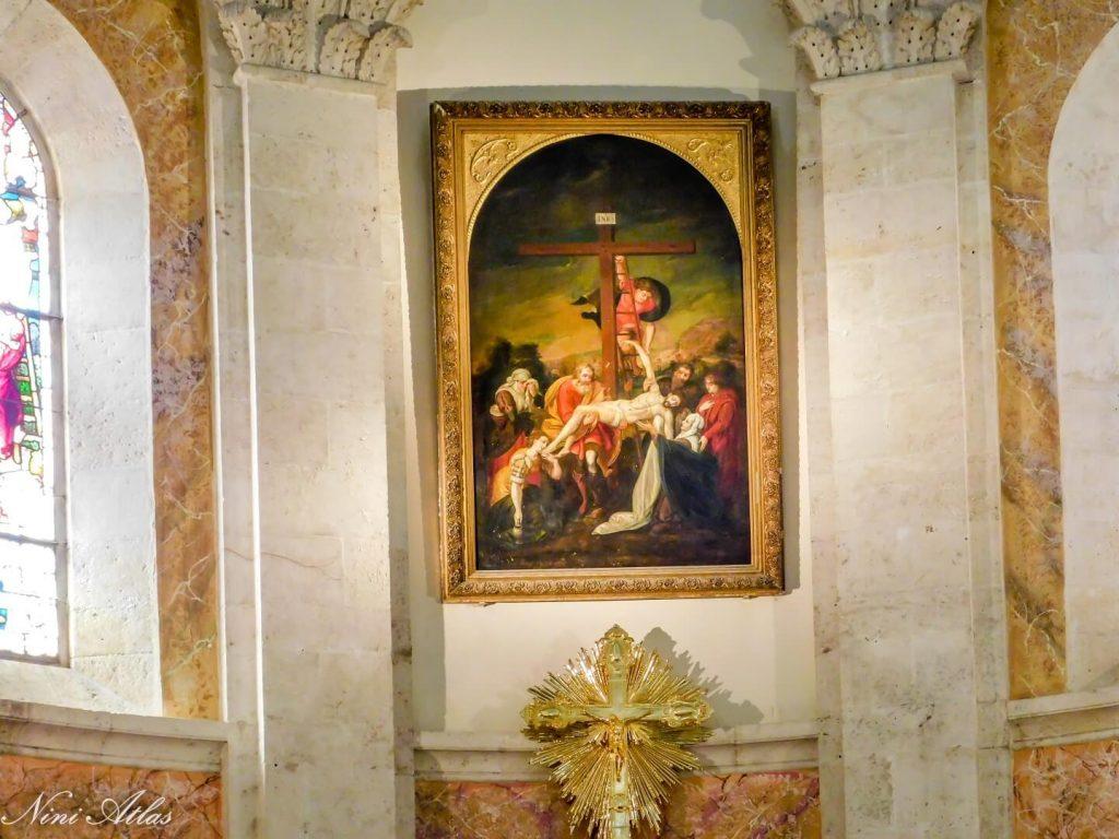 ציור של טיציאן בכנסייה הפרנצ'סקנית