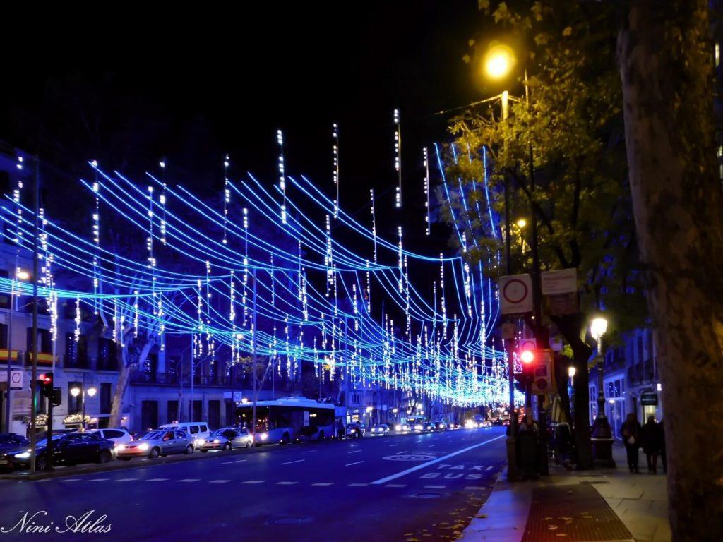 אורות ברחובות מדריד