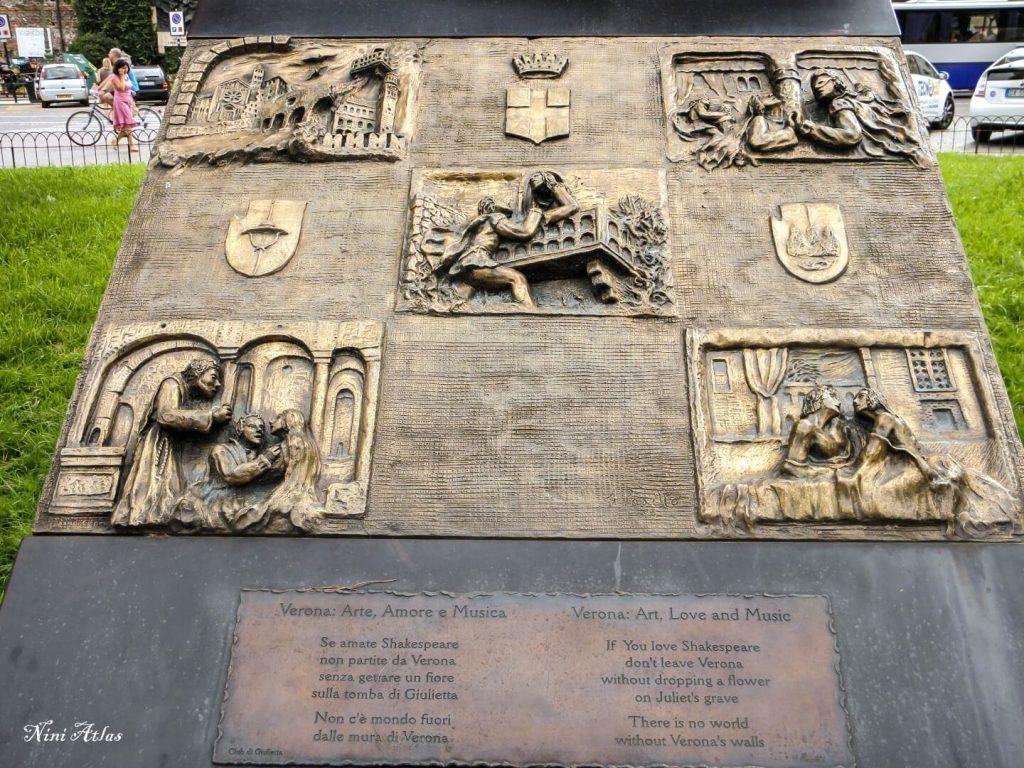 שלט בכניסה לפיאצה ברה בוורונה