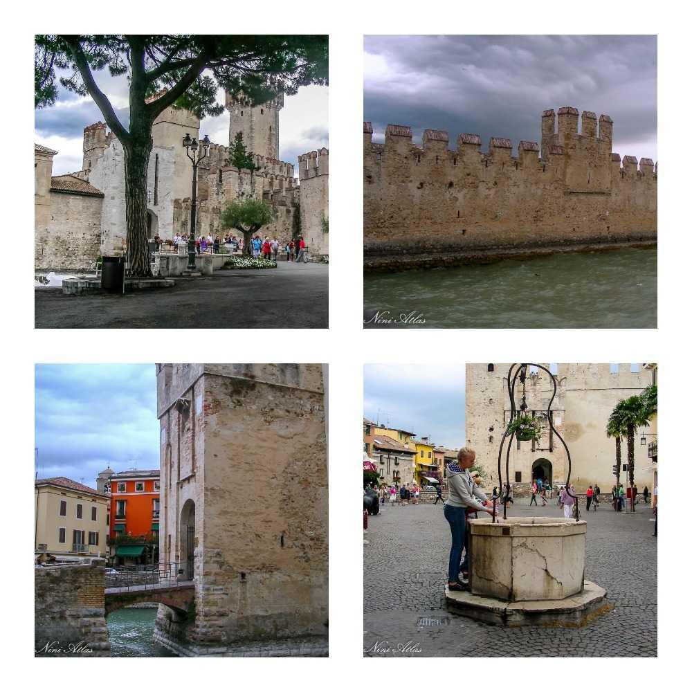 הכניסה לעיירה היא דרך מבצר רומי גדול