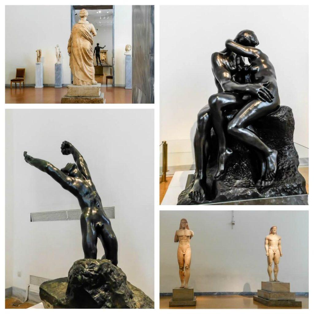 פסלים במוזיאון לארכיאולוגיה באתונה