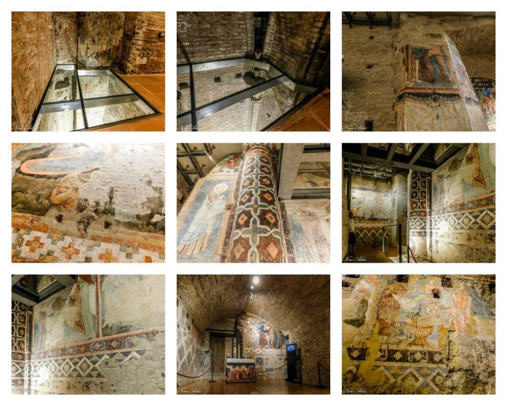 שם חדר מלא פרסקאות מהמאה ה 13