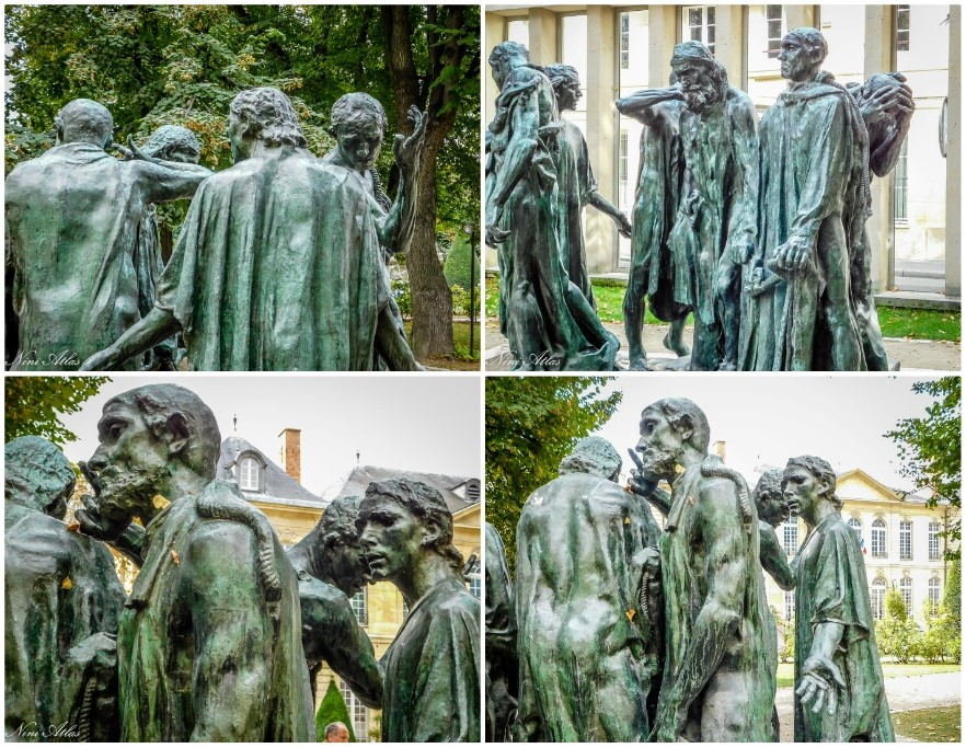 The sculptures in Rodin's garden in Paris