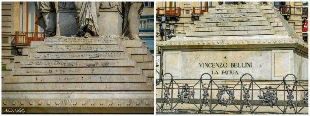 Catania Sicily Piazza Stesicoro Bellini Monument