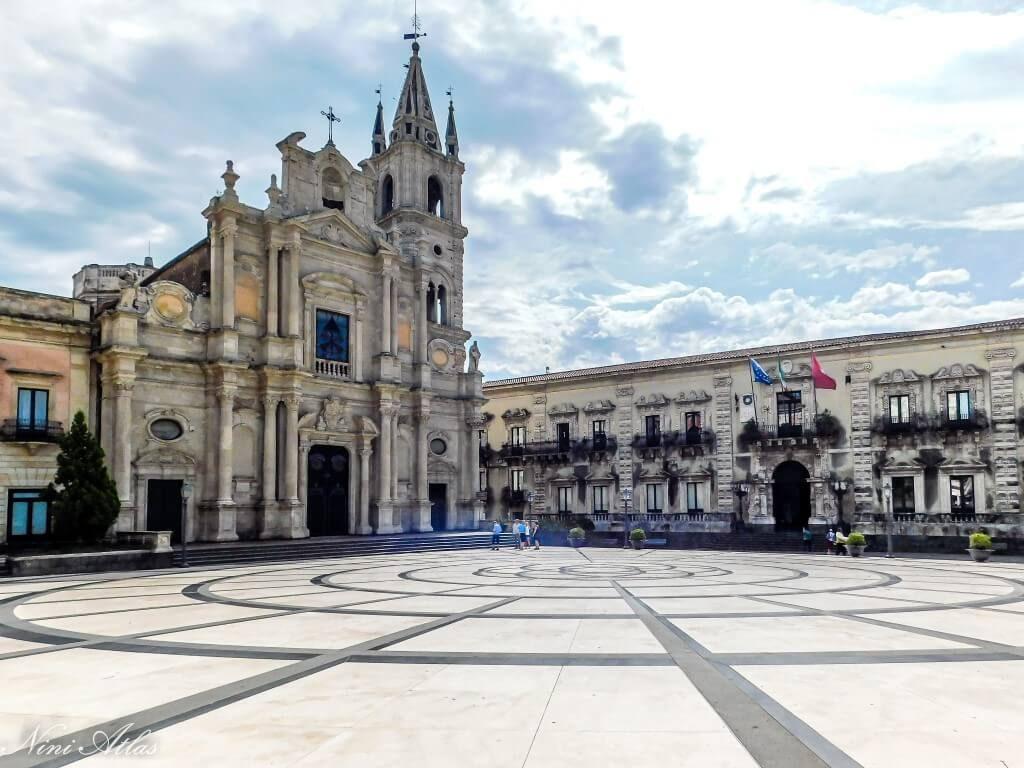 Acireale in Sicily Duomo Square