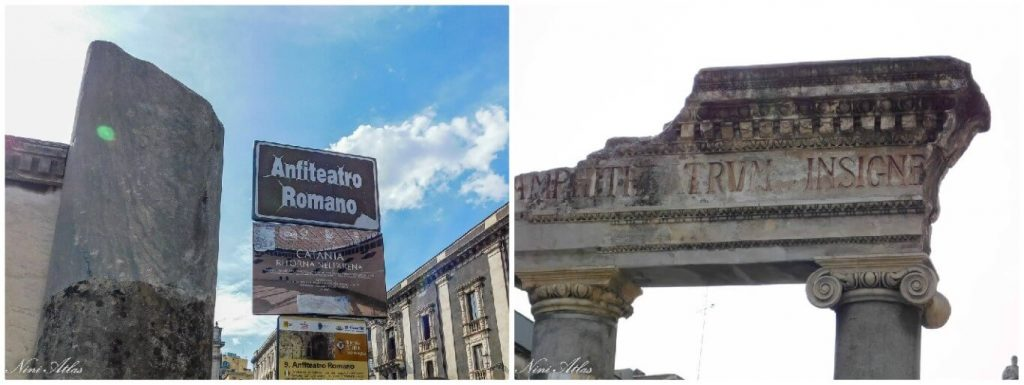 Catania Sicily Piazza Stesicoro Roman Amphitheater