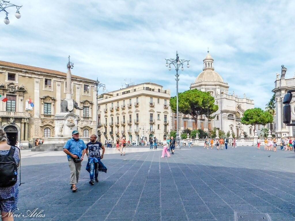 Catania Sicily Chiesa della Badia shows from Duomo Square
