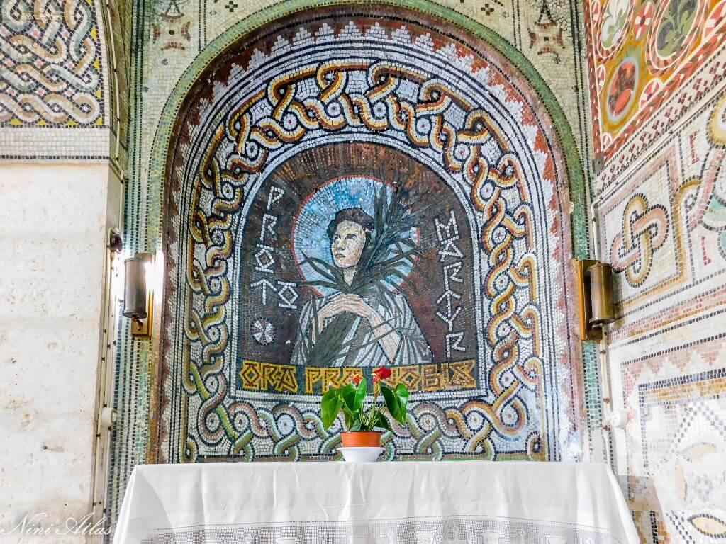 ציורי פסיפס בכנסיית סן סטפנוס בית ג'אמל