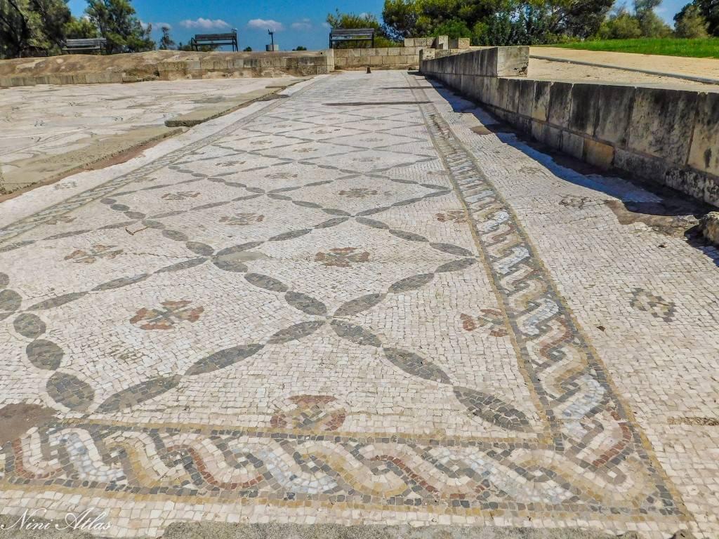 דוגמאות גיאומטריות בפסיפס הציפורים קיסריה